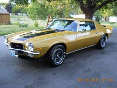 1973 Chevrolet: Camaro Z28 just like how mine looked when my father bought it in 1974