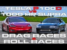 Tesla Model S P100D Ludicrous vs 1,000 HP Toyota Supra Turbo Drag Racing and Roll Racing      (adsbygoogle = window.adsbygoogle || []).push();  Watch one of the most advanced and quickest cars on the road, the Tesla Model S P100D Ludicrous take on an old school import from Japan with...