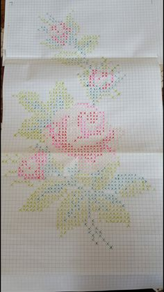 Embroidery Art, Embroidery Stitches, Cross Stitch Designs, Cross Stitch Patterns, Cross Stitch Flowers, Pixel Art, Needlepoint, Needlework, Tapestry