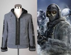 """Call of Duty Task Force """"Ghost"""" Jacket Costume"""