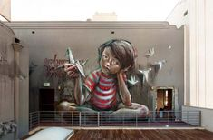 Street art by German duo #art #streetart #graffiti