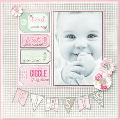 Pebbles Layout Special Delivery Girl @Pebbles Inc.  #babygirl