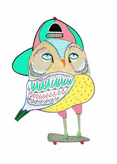 Insanely Cool Owl. limited edition art print by by AshleyPercival, $40.00