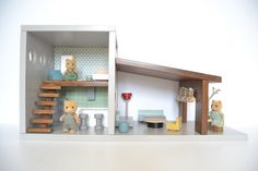 Wooden dollhouse #woodentoys #dollhouse #macarenabilbao