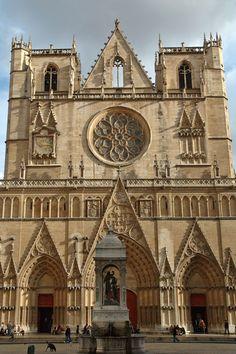 * Cathédrale Saint-Jean-Baptiste de Lyon (St. John the Baptist's Cathedral),  Roman Catholic cathedral, Lyon, France