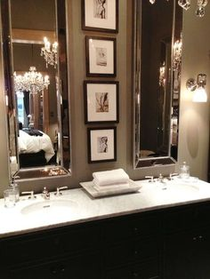 love a dark bathroom - sublime decor