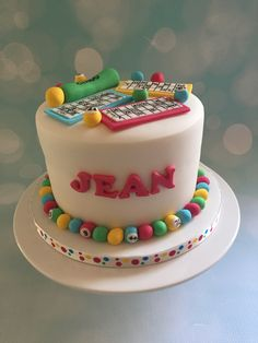 Bingo themed cake