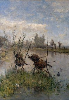 Duck's Nests ~ Paul Joseph Constantin Gabriel  c. 1900