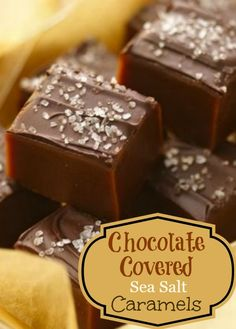 Chocolate Covered Sea Salt Caramels Candy Recipe  |  whatscookingamerica.net  #chocolate #seasalt #caramel #candy #christmas #fleurdesel