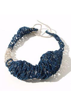 Gabriela Horvat  Bracelet: Selfportraits - Cocoons 2009  Silk, copper, chaguar, wool, hand dyed - -   http://www.gabrielahorvat.blogspot.fr/