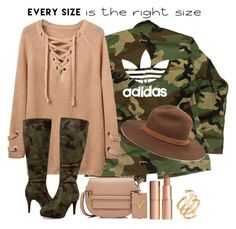 """""""Power Look: Every Size is the Right Size"""" by mississippimsu ❤ liked on Polyvore featuring adidas, Ashley Stewart, Valentino, Hueb, rag & bone, Charlotte Tilbury and powerlook"""