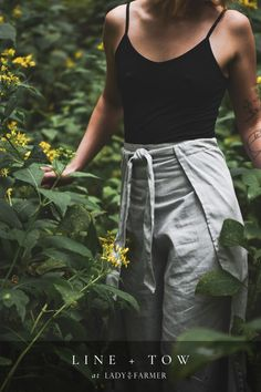 Shop Line + Tow for Lady Farmer, a sustainable fashion line from Roanoke, Virginia. Deep pockets, recycled denim, and beautiful dyes made for durability. Farmer Outfit, Female Farmer, Pants For Women, Clothes For Women, Recycled Denim, Formal Looks, Fashion Line, Blue Design, Slow Fashion