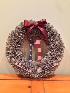 Custom Military Wreaths by MadeInAmericaWreaths on Etsy  Veteran's Day discount   USMC marine wife army wife Airforce wife navy wife  Support the troops