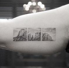 Cathedral Rock 3-Panel Bicep Tattoo