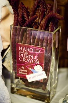 Harold and the Purple Crayon: Grape Vines #candybuffet