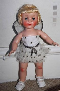 Beautiful Vintage Rosebud Hard Plastic large fairy doll in original box   eBay