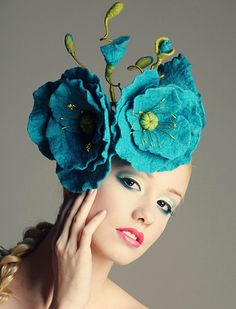Blue Himalayan Poppy Fascinator