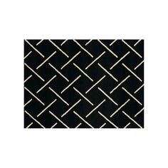 United Weavers Visions Striker Geometric Rug, Black
