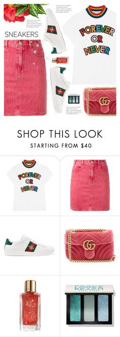 """""""Sunday funday"""" by nadialesa ❤ liked on Polyvore featuring Mira Mikati, Frame, Gucci, Lancôme and Bobbi Brown Cosmetics"""