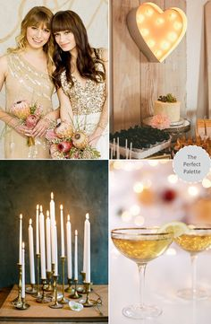 Looking for your wedding color palette? The Perfect Palette wants to help! The Perfect Palette is dedicated to helping you see the many ways you can use color to bring your wedding to life. Gold Wedding, Diy Wedding, Dream Wedding, Wedding Day, Sparkle Wedding, Wedding Trends, Wedding Styles, Here Comes The Bride, Love And Marriage
