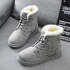 b9567a6b988 Winter Boots Women Fashion Shoes Women Warm Fur Plush Leather Boots For  Women Winter Shoes Thick Fur Women Boots Botas Mujer