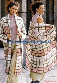 Как легко вывязать шотландскую клетку и шикарное вязанное пальто (или жакет) в английском стиле в этой технике.