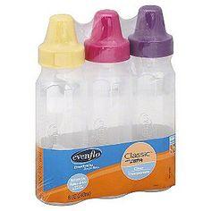 Evenflo -Classic Bottles, 8 oz, Slow Flow 1, (0-3 m), 3 bottles Cute Water Bottles, Baby Bottles, Milk Bottles, Toddler Bottles, Silicone Reborn Babies, Bottles For Sale, Bottle Feeding, Baby Feeding, Baby Gear