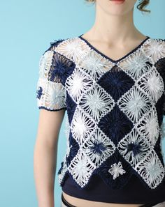 flower loom crochet top