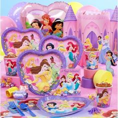 Is your daughter a Disney Princess?  Well now she can be with her very own Disney Princess themed party.