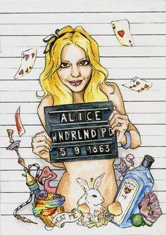 Alice in wonderland mug shot