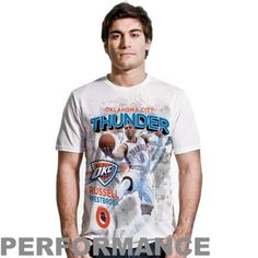 Russell Westbrook Oklahoma City Thunder Center Court Performance T-Shirt - White