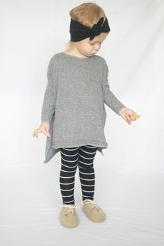 Baby Leggings Black and White Leggings Minimalist by AnchoreDeep