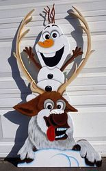 affordable handcrafted wood christmas yard decorations displays that brighten the holiday spirit of anyone - Olaf Outdoor Christmas Decoration