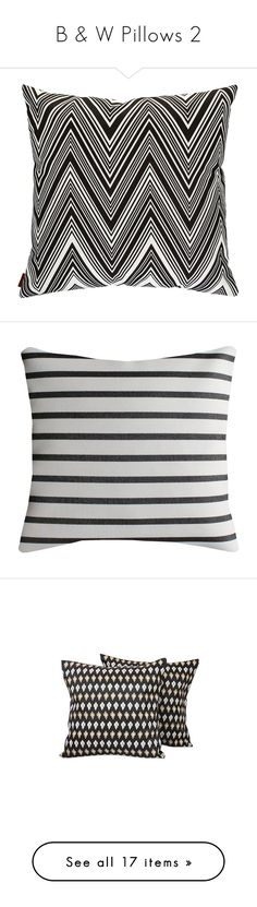 """""""B & W Pillows 2"""" by lailoooo ❤ liked on Polyvore featuring home, outdoors, outdoor decor, pillows, tropical outdoor decor, garden decor, outdoor garden decor, outdoor patio decor, home decor and throw pillows"""