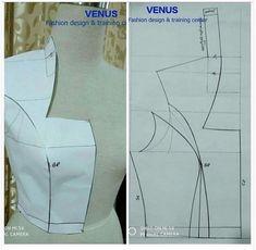 Vogue Sewing Patterns, Bag Patterns To Sew, Clothing Patterns, Pattern Sewing, Sewing Collars, Bodice Pattern, Sewing Basics, Fashion Sewing, Sewing Techniques
