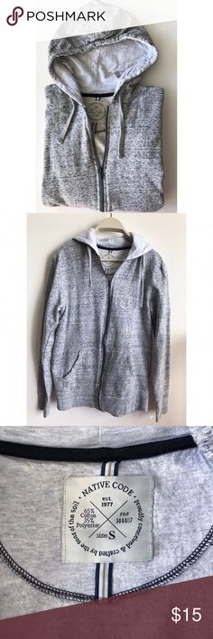 Native Code Long Sleeve Zip up Gray Hoddie NWOT *This item is in excellent like new pre-owned condition.  * All items are shipped from a smoke-free home. Native Code Shirts Sweatshirts & Hoodies