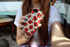 floral iphone case. ♡