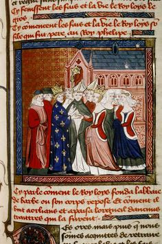 The wedding of Louis VII and Eleanor of Aquitaine, 1137. Grandes Chroniques de France, Folio #: fol. 192r. End of 14th century. Bodleian Library, University of Oxford