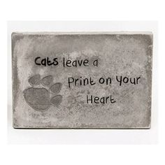 "Tekstbord beton ""Cats"""