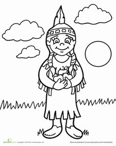 native american coloring pages missionary - photo#7