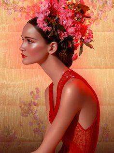 colorful,fashion,fashion,photography,flowers,hair,image-8f802a2e692e3040c7b65eb6b750de40_h.jpg (373×500)