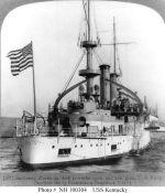Battleship Photo Index BB-6 USS KENTUCKY
