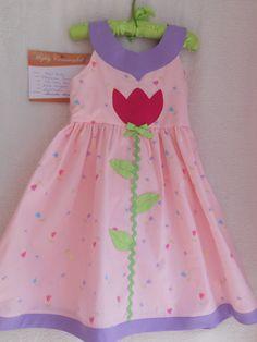 tulip applique dress
