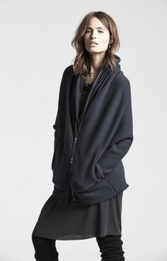 AW 14 - 15 by Veronique Miljkovitch Interview, Industrial Style, Hooded Jacket, Normcore, Pullover, Hoodies, Fashion Designers, Jackets, Canada