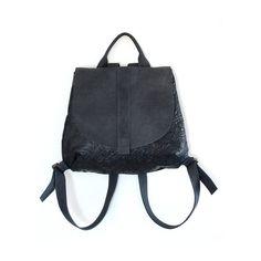 Black Backpack Bag, Leather Backpack