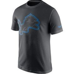 NFL Nike Detroit Lions Men s Anthracite Travel Performance T-Shirt 2b54fec7e