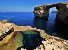 The Azure Window in Gozo, Malta @Kristina Kilmer Kangas I want to do a day trip here for malta