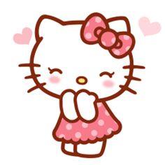 KT Hello Kitty Theme Party, Hello Kitty Themes, Hello Kitty Birthday, Hello Kitty Vans, Hello Kitty My Melody, Sanrio Hello Kitty, Cat Gif, Kitty Gif, Kitty Images