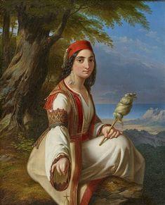 A Greek Woman with a Spindle in Coastal Landscape by Paul Emil Jacobs Arabian Art, Greek Beauty, Classic Paintings, Greek Art, Global Art, Moorish, Museum Of Fine Arts, Art Market, Textile Art