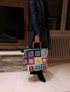 Rainbow Crochet, Handmade Purses, Boho Chic, Bamboo, Wool, Cool Stuff, Bags, Style, Etsy